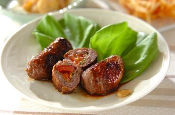 牛肉 のトマト巻き レシピ