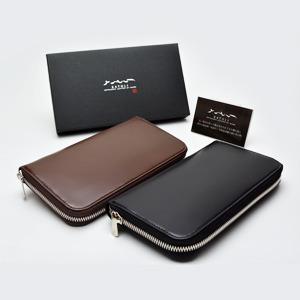 松阪牛の革財布 ラウンドファスナー