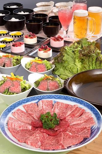忘年会 少人数歓迎 松阪牛焼肉宴会プラン!