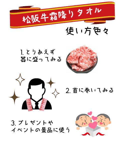 お肉のタオル 使い方