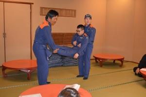 防災訓練 ‐救助訓練-