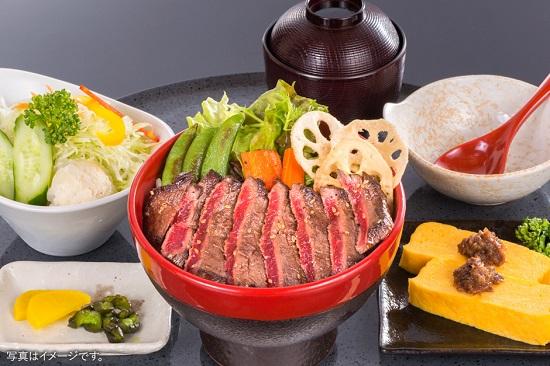 大人気の松阪牛ステーキ丼